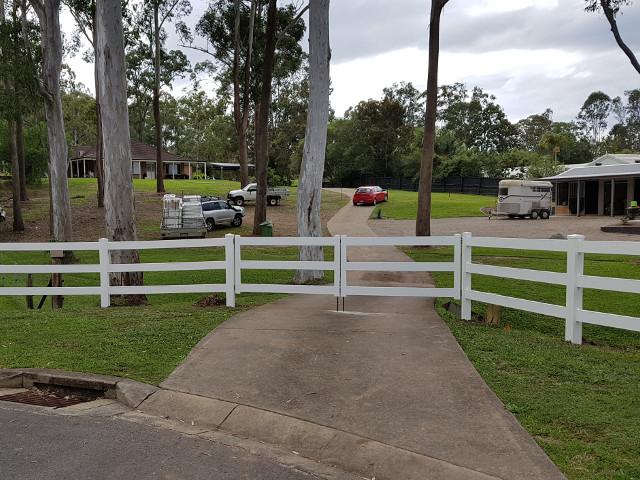 Custom PVC Fencing in Three Rail Post and Rail style